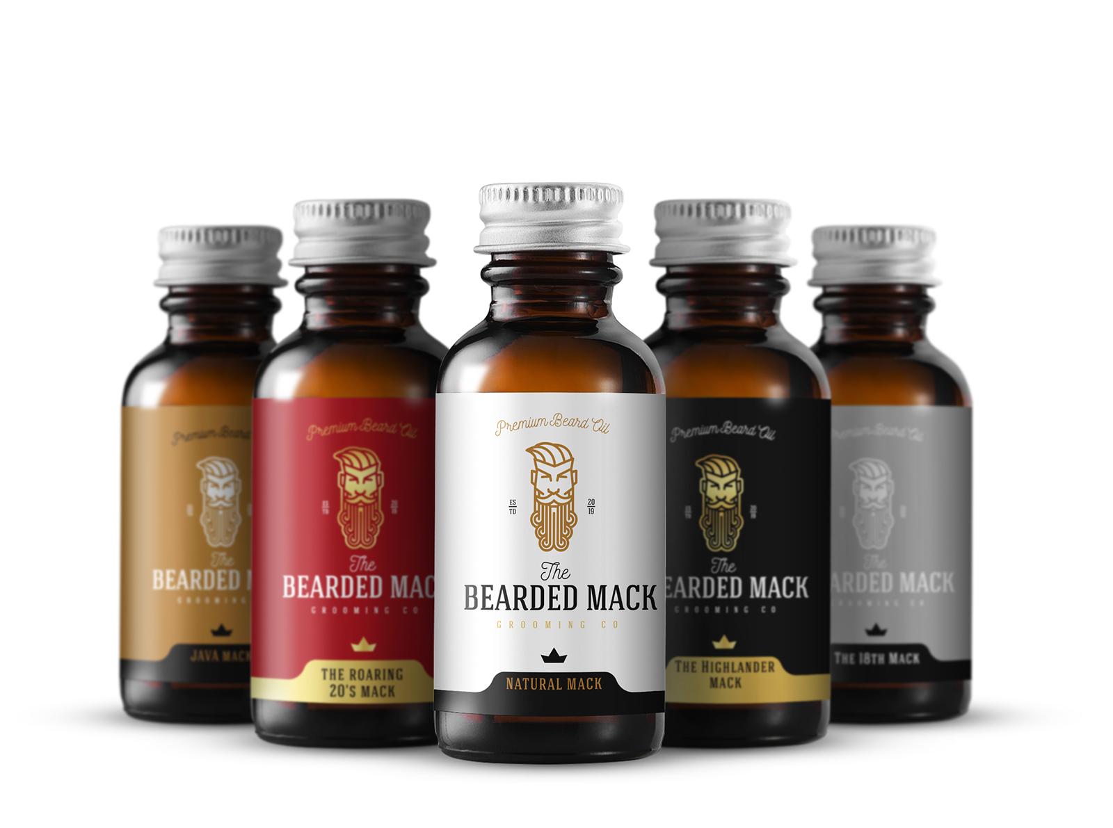bearded mack - label design