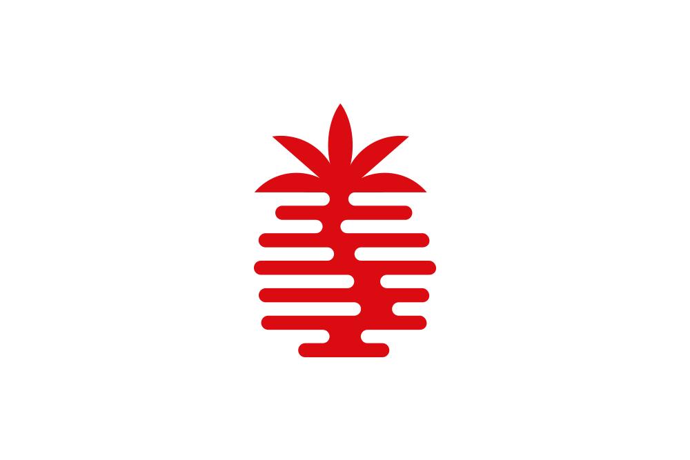 palm coffee logo design