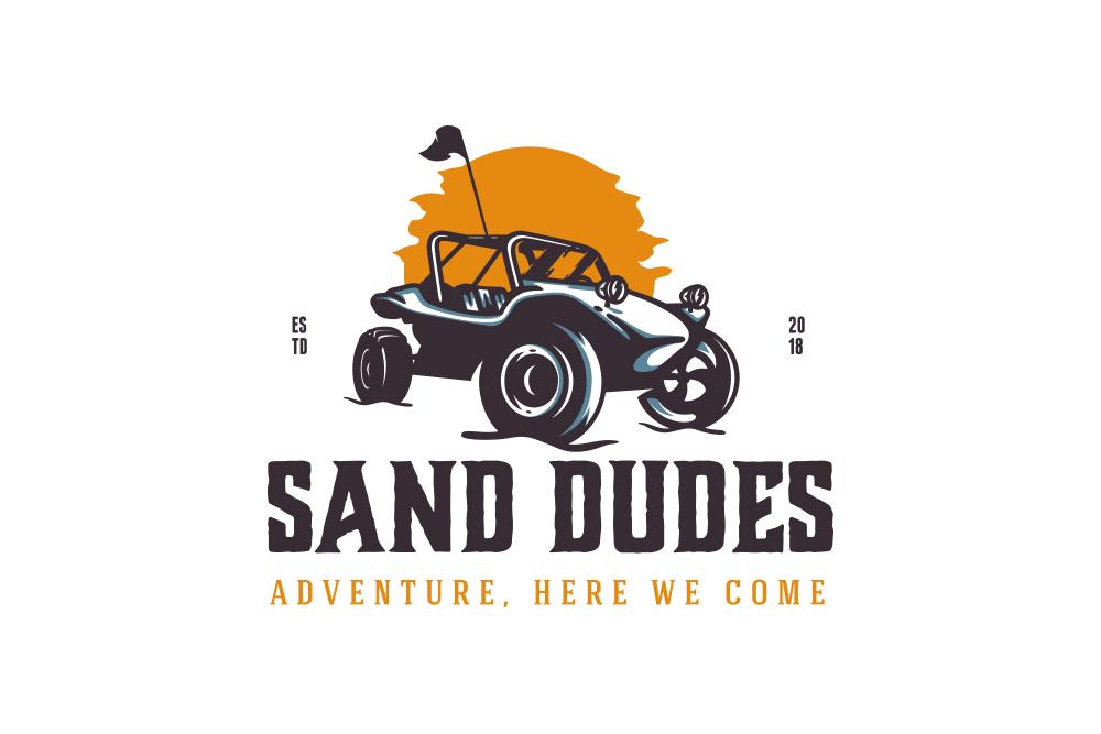 sand dudes logo design