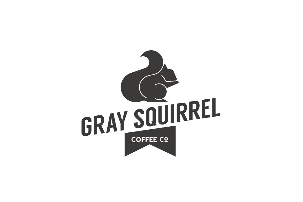 squirrel coffee logo design